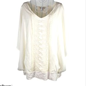 NWT Coldwater Creek Touch of Lace Top